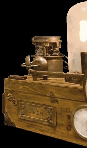 昔の発電装置の画像